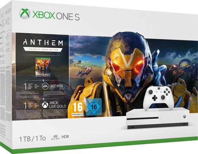 Microsoft Xbox One S 1TB + Anthem Wit