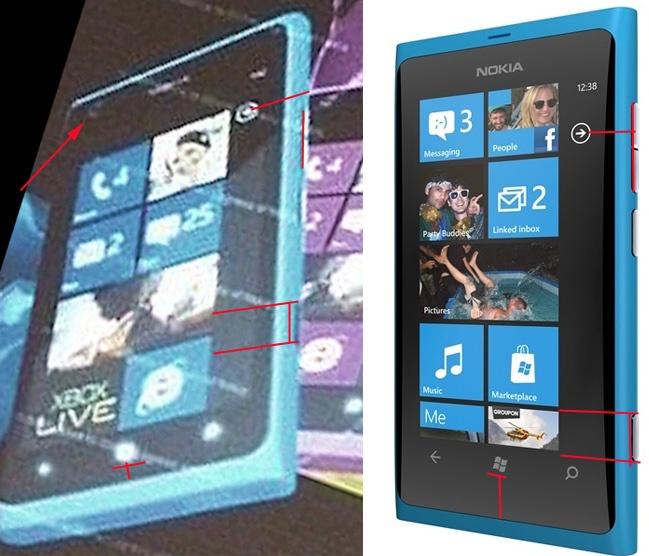 Verschillen Lumia 800 en vermoedelijke Lumia 900