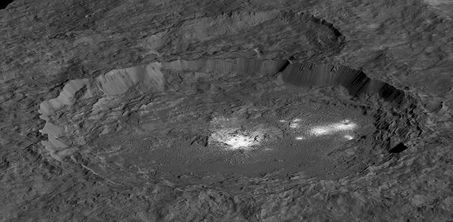 NASA Dawn Ceres heldere plek