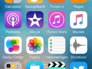 Screenshot iPhone SE met iOS 9.3