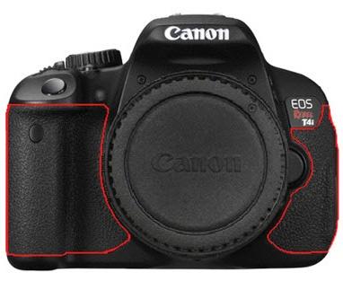 Canon EOS 650D - Allergische reacties rubber delen