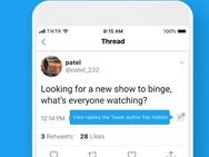 Twitter - verberg antwoorden