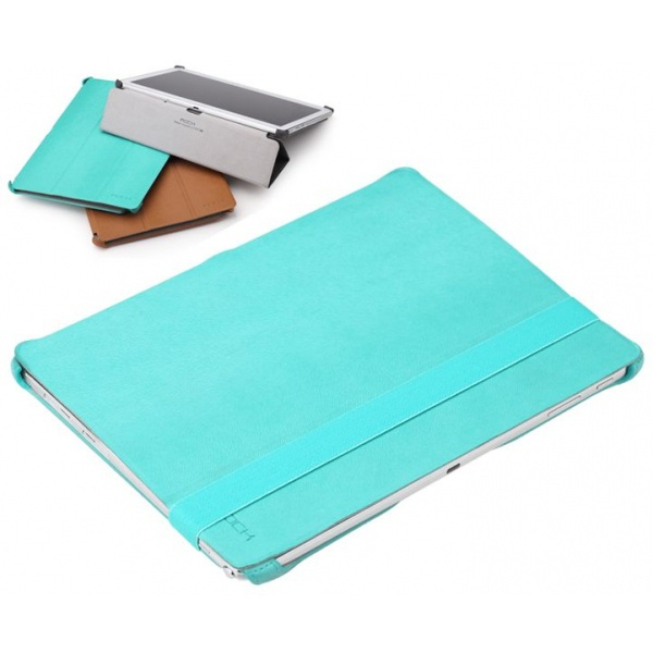 Rock Smart Leather case Samsung Galaxy Note 10.1 2014 Edition (TEXTURE Series blue)
