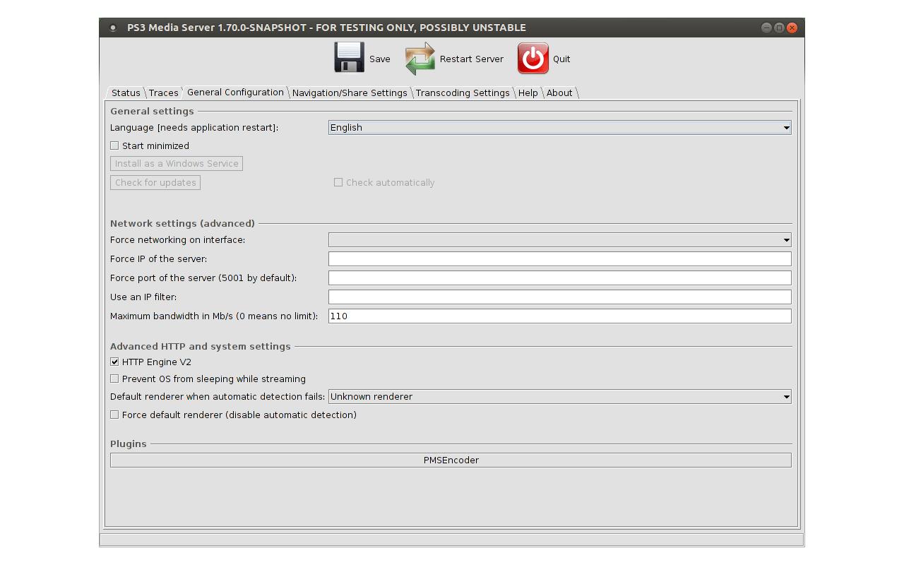 PS3 Media Server screenshot