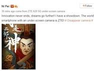 ZTE op Weibo: smartphone met frontcamera achter scherm