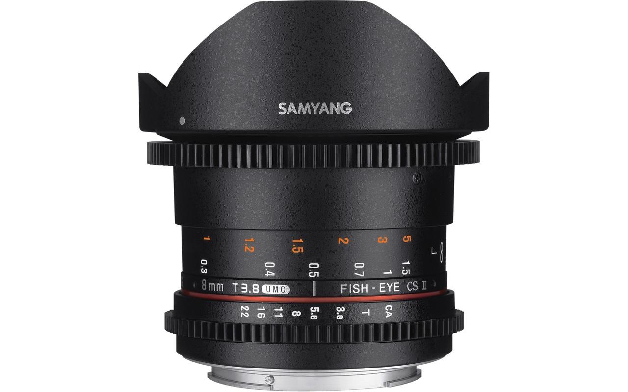 Samyang Optics 8mm T3.8 VDSLR UMC Fish-eye CS II (Sony A)