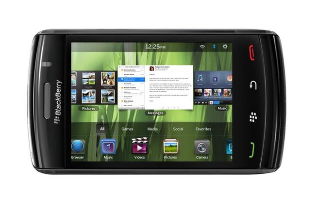 Mockup: BlackBerry Storm met QNX Tablet OS