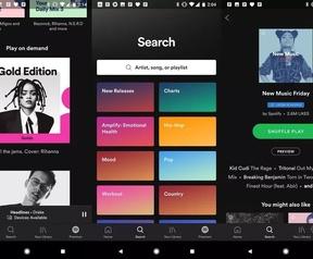 Screenshot vermoedelijke nieuwe versie Spotify Free