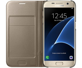 Samsung Galaxy S7 Led View Cover  Goud