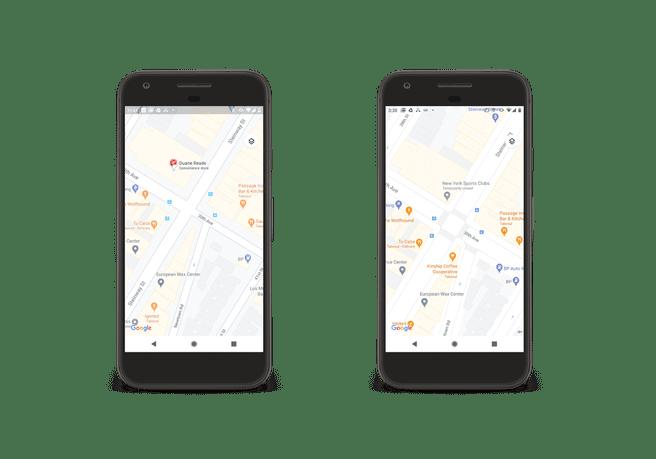 Straatdetails in Google Maps