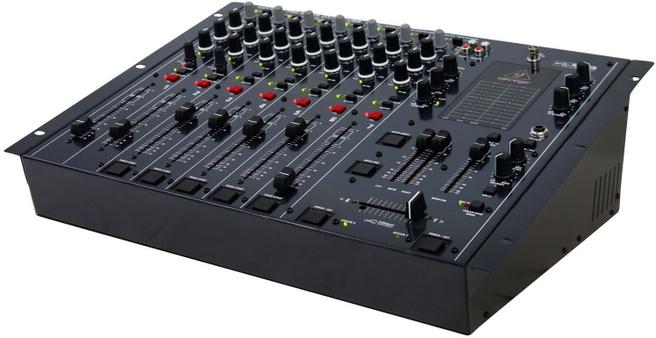 Behringer DX2000USB Pro Mixer professioneller 7-Kanal DJ Mixer, VCA Crossfader