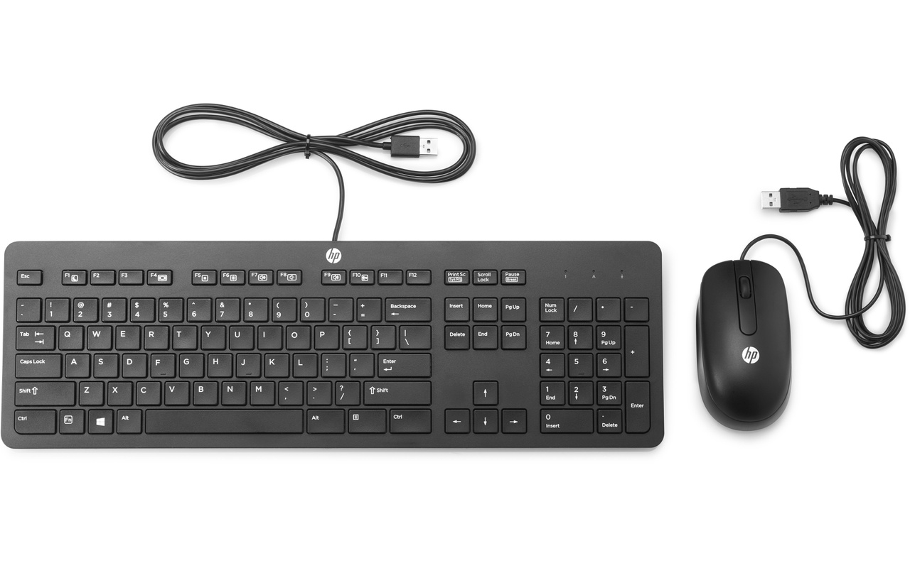 HP Slim USB Keyboard Amp Mouse Qwerty UK