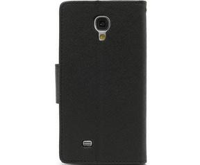 Mercury Fancy Diary WalletCase - Samsung Galaxy S4 Mini - Zwart Zwart