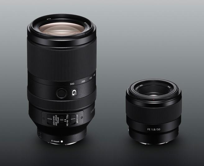 Sony FE 50mm f/1.8 en 70-300mm