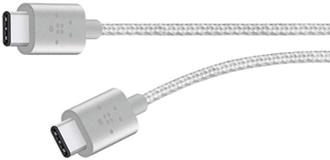 Belkin USB 2.0 USB-C naar USB-C Kabel 60W 1.8 meter - Zilver