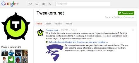 Tweakers.net Google+
