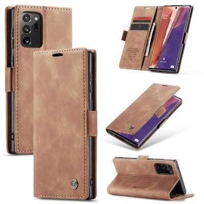 Caseme Samsung Galaxy Note 20 Ultra Retro Wallet Case - Bruin