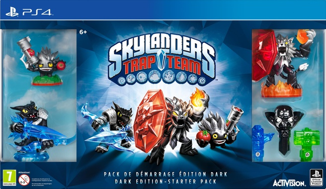 Skylanders Trap Team Starter Pack Dark Edition, PlayStation 4