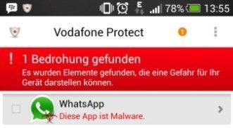 WhatsApp-melding malware (bron: Mobiflip)