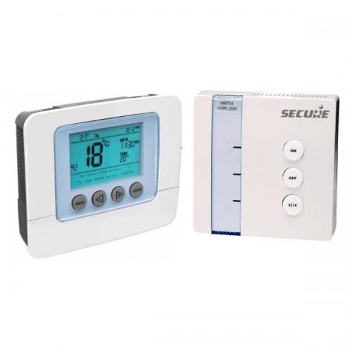 Secure Wandthermostaat met LCD display en Boilerschakelaar