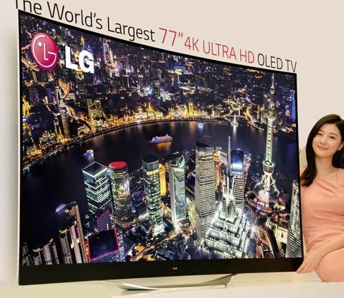 """LG 77EC9800, 77"""" 4k-oled-tv met gebogen scherm"""