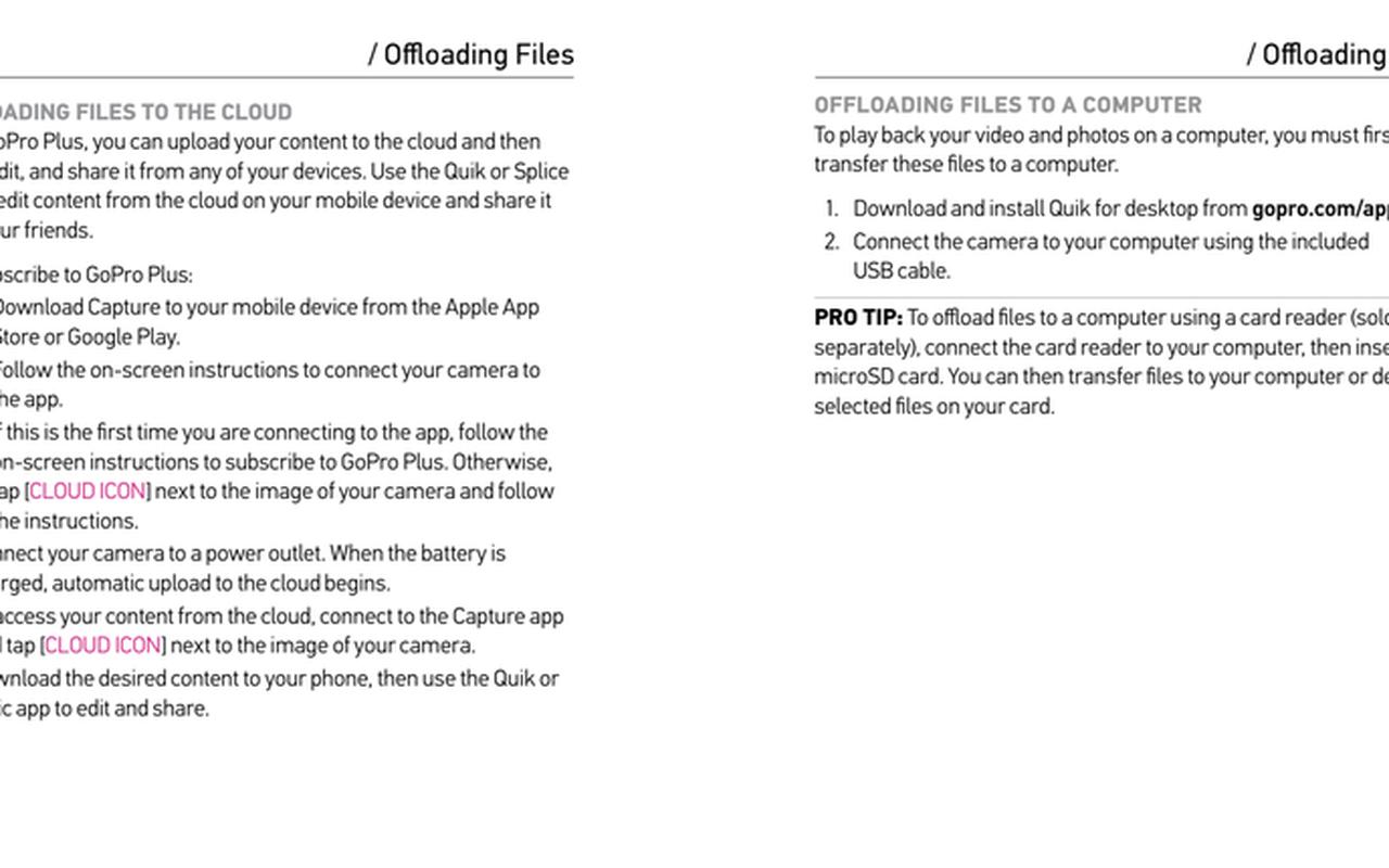 Beschrijving van GoPro Plus-functie