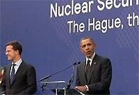 Obama met Rutte tijdens de NSS. Foto: NSS.