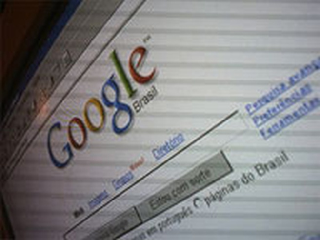 Google Brazilië (dit is geen screenshot, maar een foto van een beeldscherm)