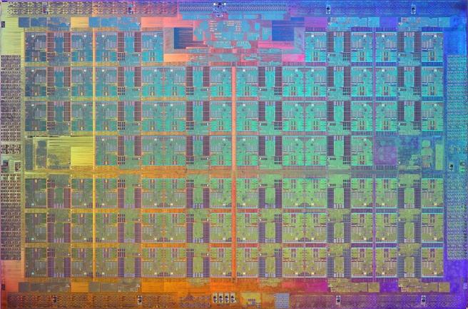 Intel Knights Landing die shot