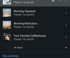 Spotify in je wekker