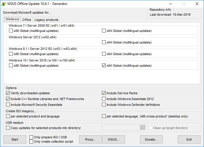 Software-update: WSUS Offline Update 11 6 - Computer