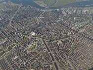 Overzicht van Amsterdam in Cities: Skylines