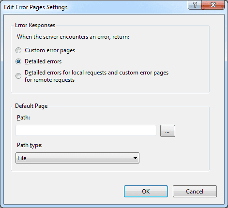 Configure IIS 7 Error Pages