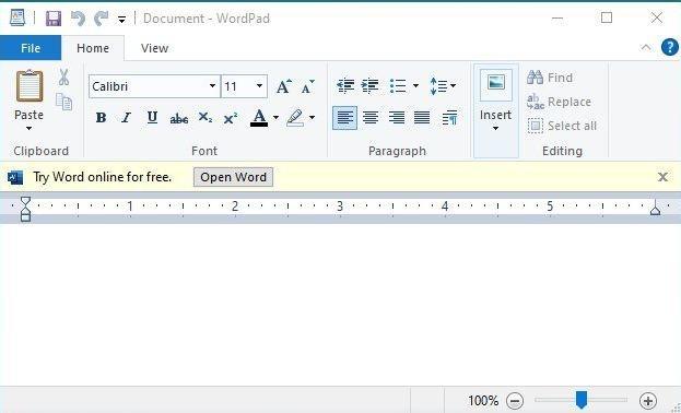 Wordpad Word