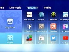 Salora DBS350 Android menu