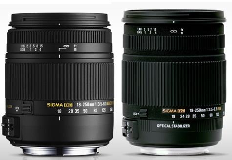 Sigma 18-250mm nieuw versus oud