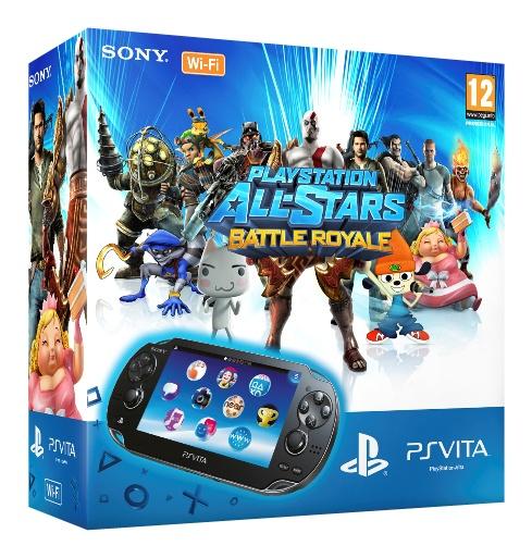 Sony PlayStation Vita WiFi + All-Stars Battle Royale (voucher) + 4GB Zwart