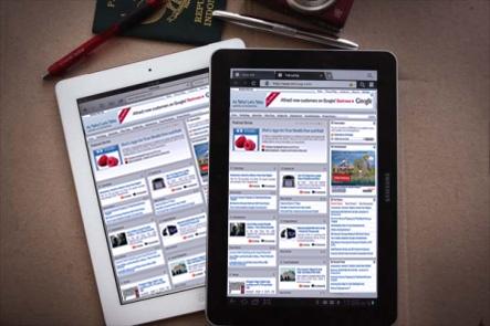 Galaxy Tab 10.1 en iPad 2