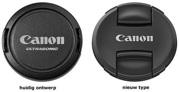Canon stapt over van squeeze naar pinch voor lensdoppen