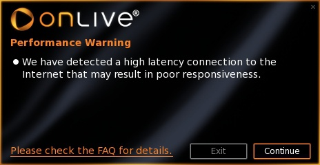 OnLive warning