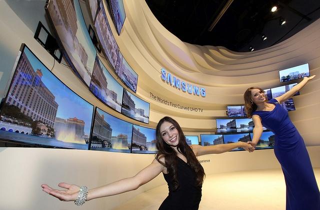 Samsung Curved uhd tv's
