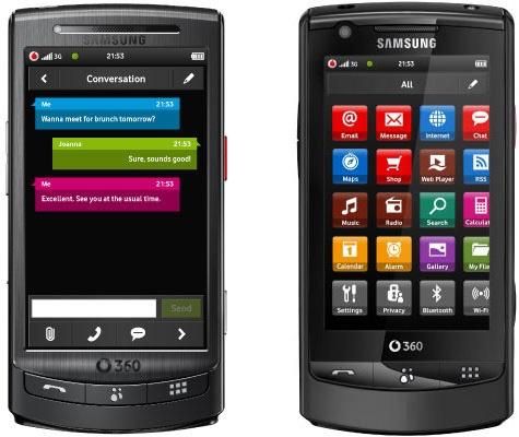 Vodafone H1(links) en M1 (rechts)