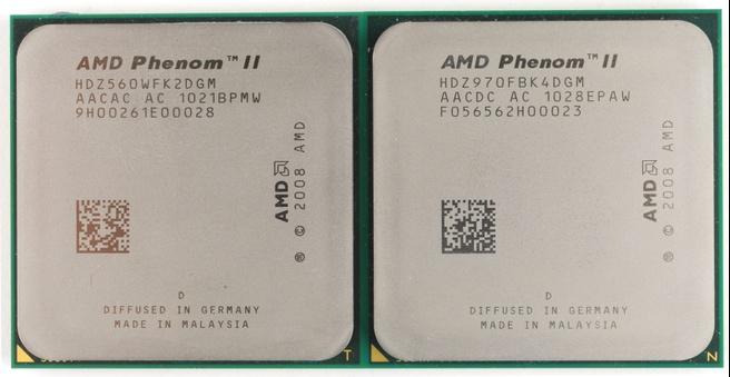 AMD Phenom II X4 970 en X2 560