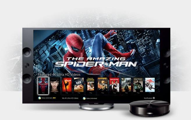 Sony 4k-tv en -mediaspeler