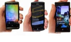 HTC 7 Trophy, Samsung Omnia 7 en LG Optimus 7