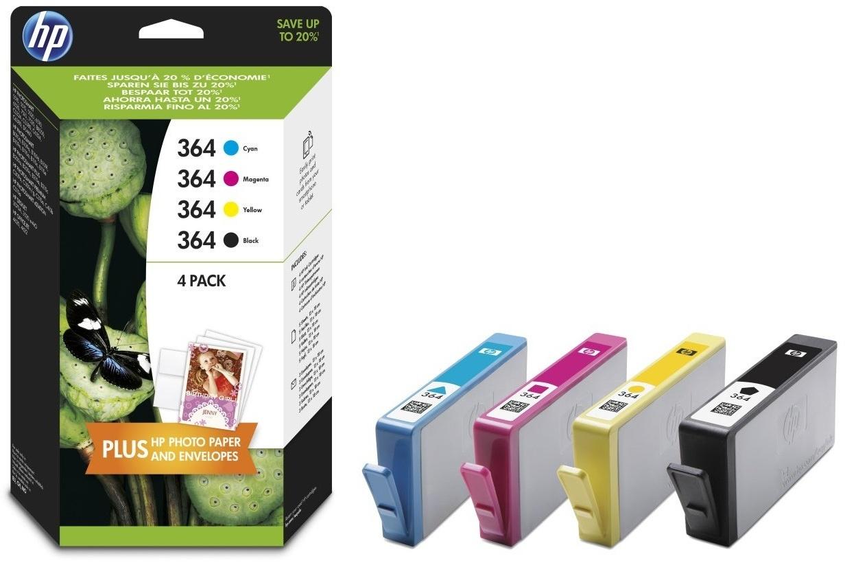 hp 364 combo value pack 5 stuks fotopapier prijzen tweakers. Black Bedroom Furniture Sets. Home Design Ideas
