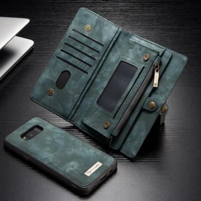 Blauwe Leren Portemonnee.Caseme Samsung Galaxy S8 Plus Luxe Lederen Portemonnee Hoesje