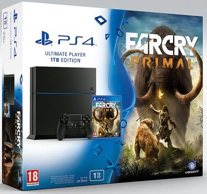 Sony PlayStation 4 1TB + Far Cry: Primal Zwart