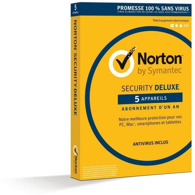 Symantec Norton Security Deluxe 3.0 FR (1 jaar / 5 apparaten)