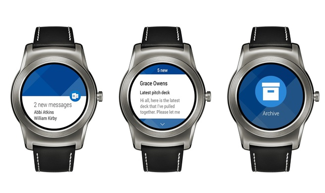 Outlook op Android Wear